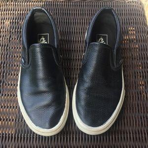 Van's Leather Slip On Size 7.5